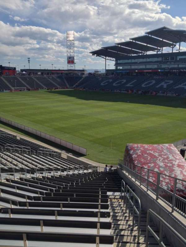 Dick's Sporting Goods Park, section: 100, row: 26, seat: 1
