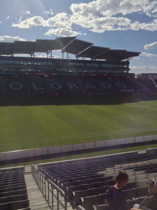 Dick's Sporting Goods Park, section: 110, row: 21, seat: 1