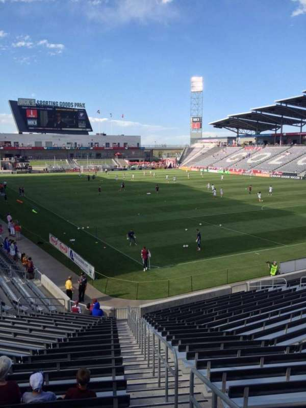 Dick's Sporting Goods Park, section: 122, row: 22, seat: 1