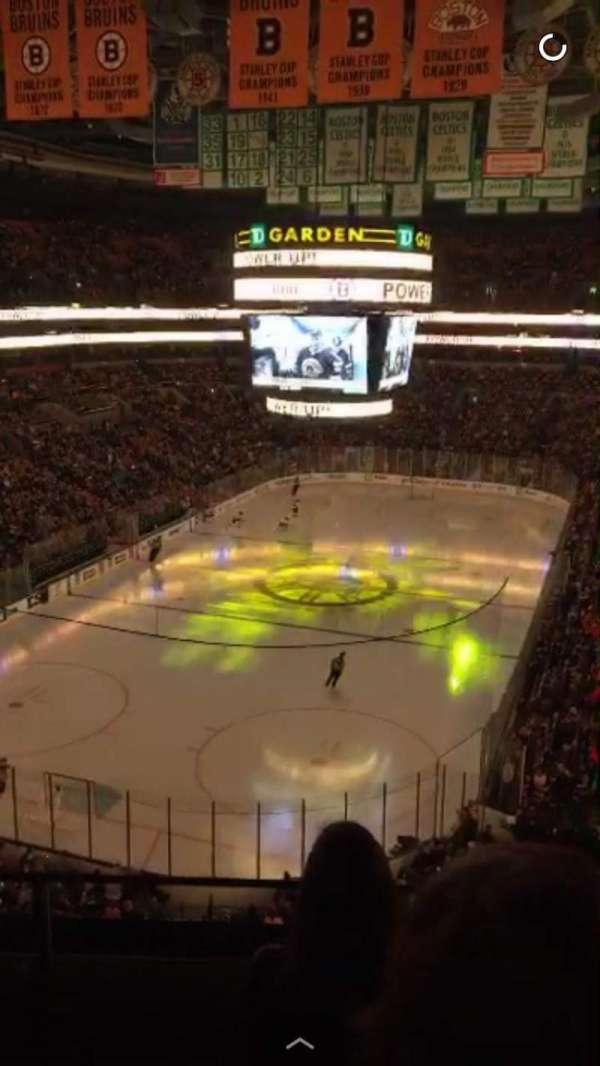 TD Garden, section: BAL 322, row: 2, seat: 3