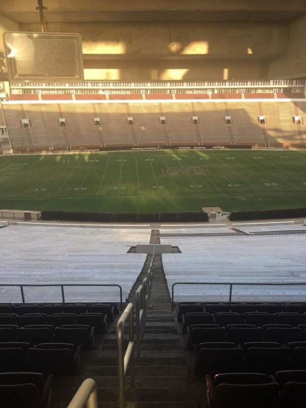 Davis Wade Stadium, section: 108, row: 68, seat: 01