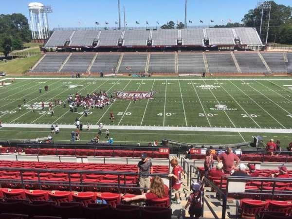 Veterans Memorial Stadium, section: 212, row: 20, seat: 1