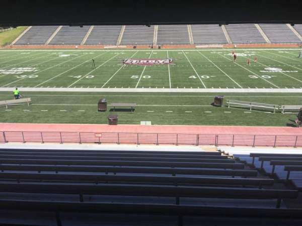 Veterans Memorial Stadium, section: 108, row: 17, seat: 1