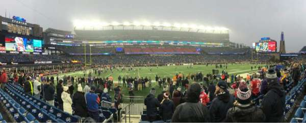 Gillette Stadium, section: 112, row: 8, seat: 20