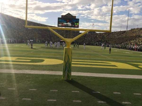 Autzen Stadium, section: 21, row: 1, seat: 7W