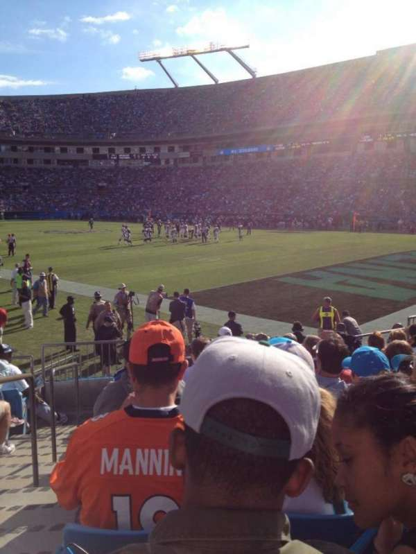 Bank of America Stadium, section: 105, row: 9, seat: 15