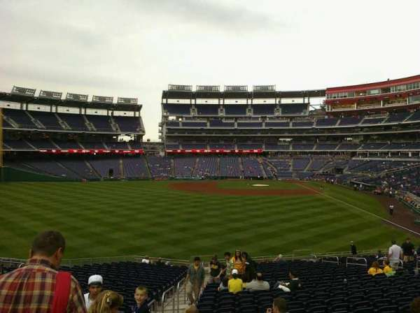Nationals Park, section: 104, row: X, seat: 20