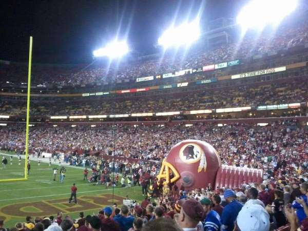 FedEx Field, section: 111, row: 16, seat: 22
