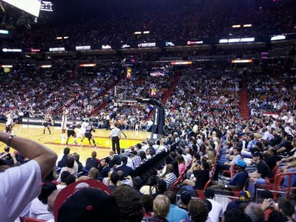 American Airlines Arena, section: 105, row: 8, seat: 1