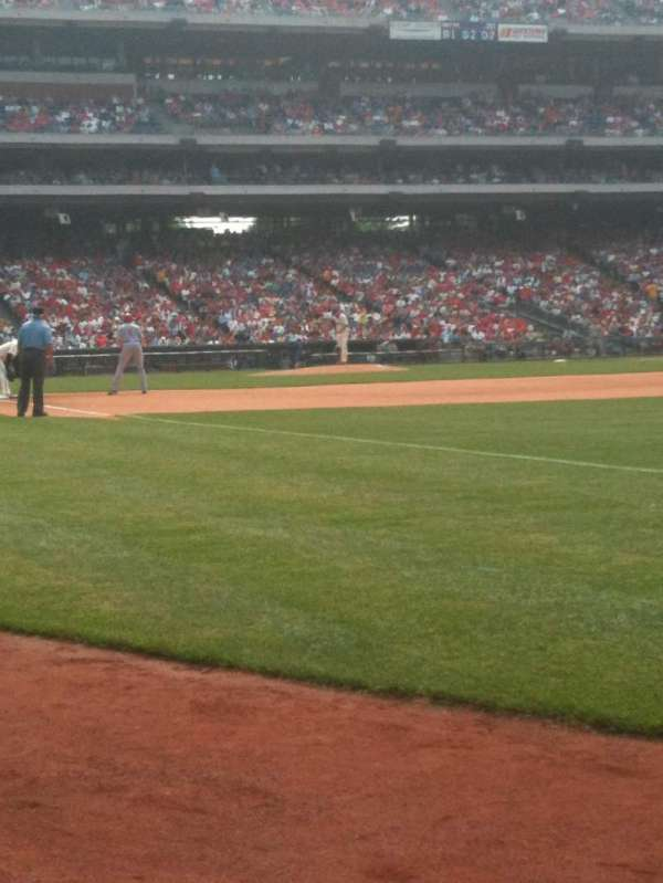 Citizens Bank Park, section: 110, row: 1, seat: 5