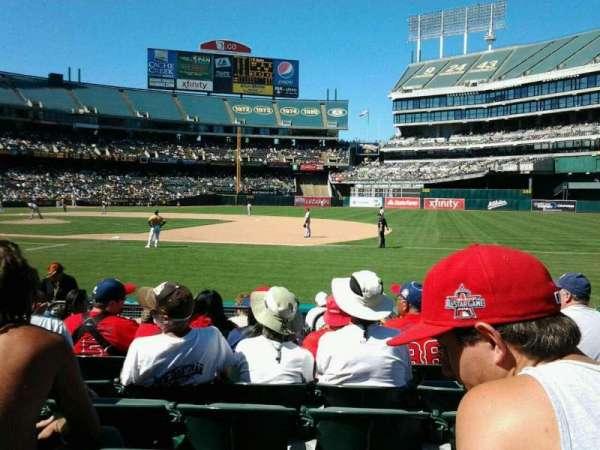 Oakland Coliseum, section: 107, row: 7, seat: 6