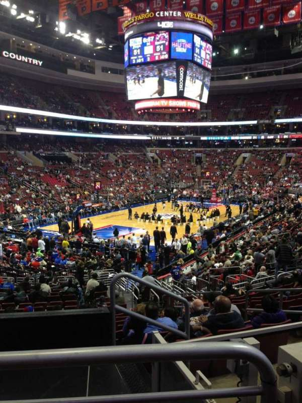 Wells Fargo Center, section: 121, row: 22, seat: 21