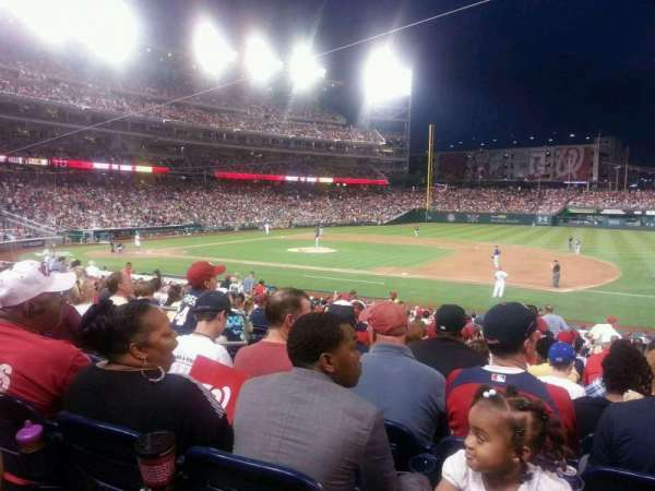 Nationals Park, section: 131, row: EE, seat: 15