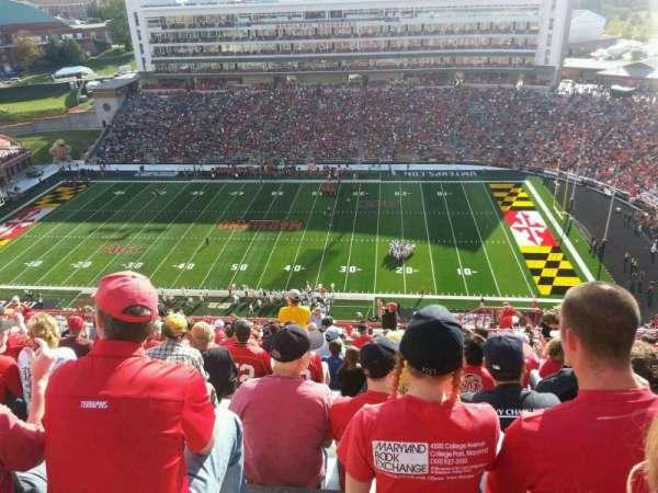 Maryland Stadium, section: 308, row: W, seat: 4