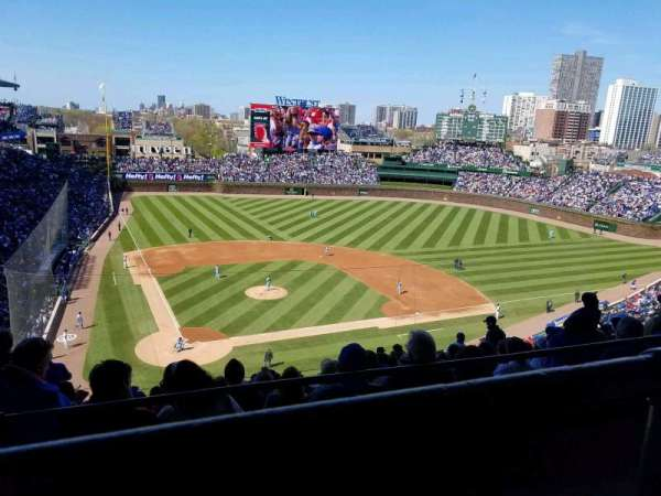 Wrigley Field, section: 421r, row: 1, seat: 5