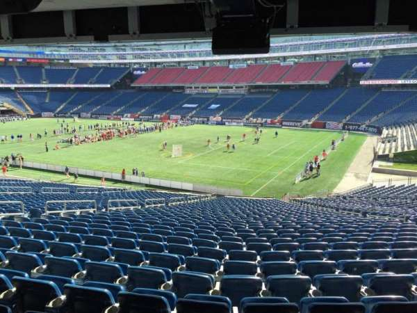 Gillette Stadium, section: 104, row: 38, seat: 12