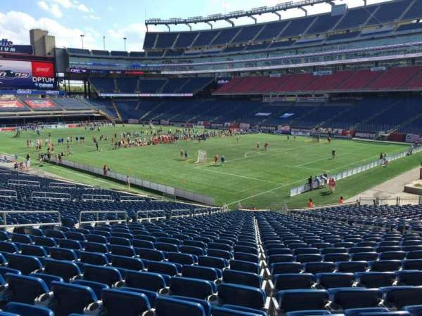Gillette Stadium, section: 103, row: 34, seat: 13