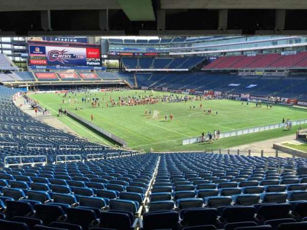 Gillette Stadium, section: 102, row: 38, seat: 12