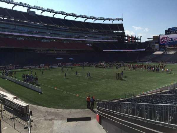 Gillette Stadium, section: 116, row: 20, seat: 8