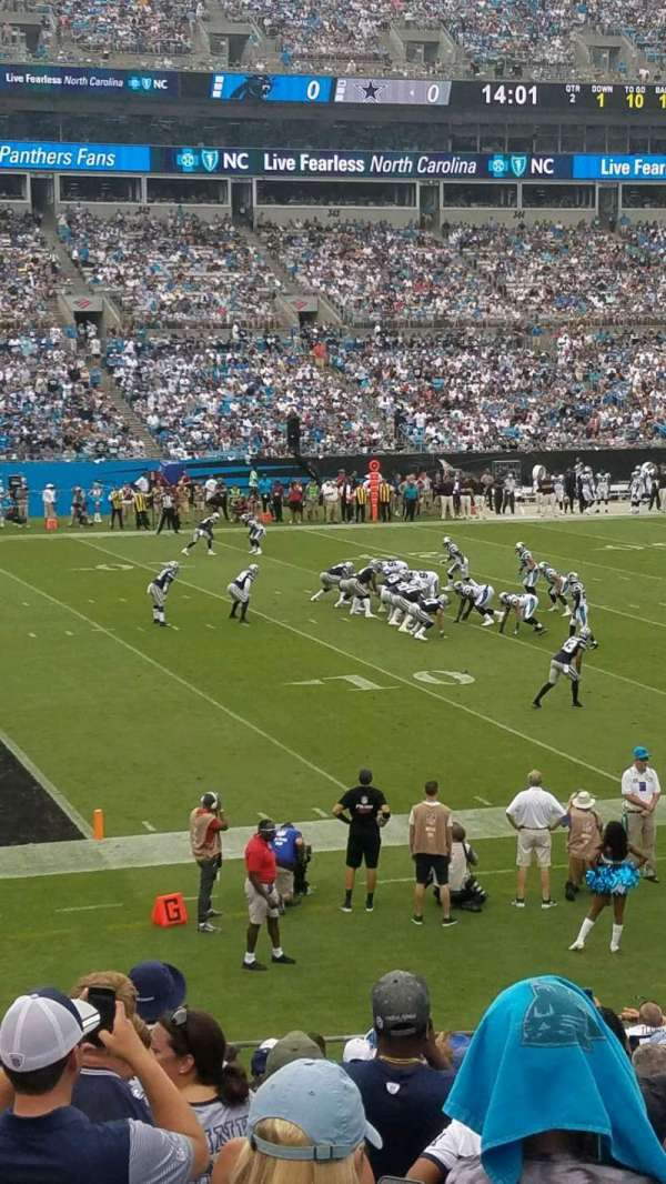 Bank of America Stadium, section: 118, row: 18, seat: 14