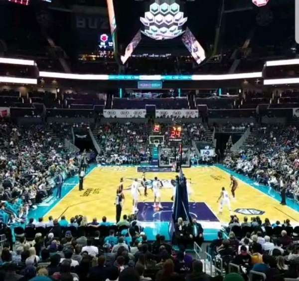 Spectrum Center, section: 101, row: P, seat: 3