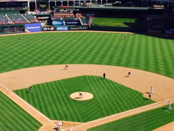 Globe Life Park in Arlington, section: 327, row: 2, seat: 11-15