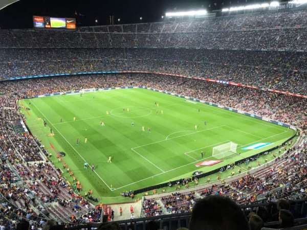 Camp Nou, section: 415, row: 6, seat: 1