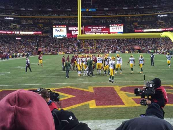FedEx Field, section: 132, row: 1, seat: 18