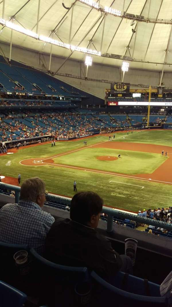 Tropicana Field, section: 214, row: C, seat: 8