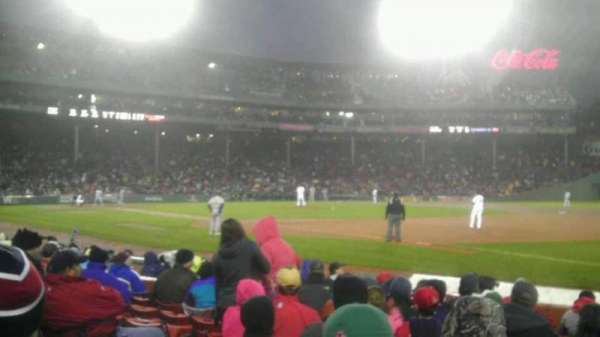 Fenway Park, section: Field Box 12, row: h, seat: 3