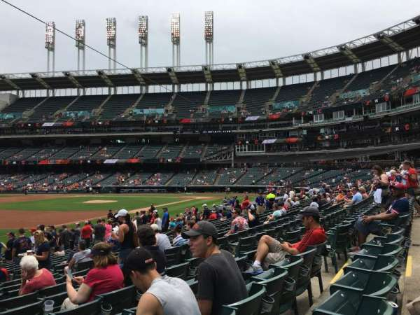 Progressive Field, section: 170, row: U, seat: 10