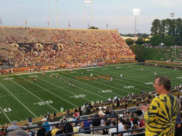 Truist Field at Wake Forest, section: 2, row: JJ, seat: 1