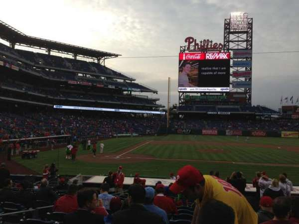 Citizens Bank Park, section: 118, row: 16, seat: 4