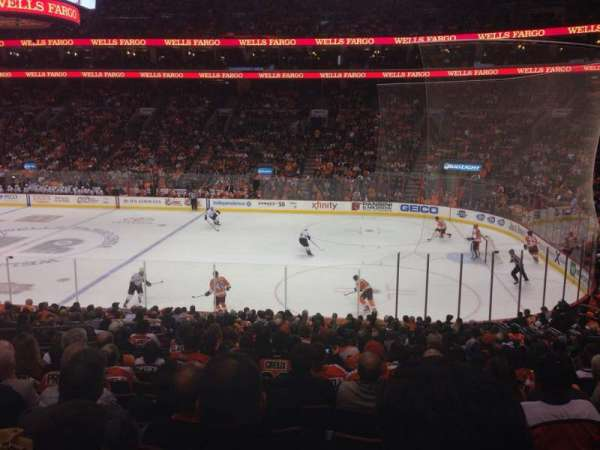 Wells Fargo Center, section: 115, row: 22, seat: 6
