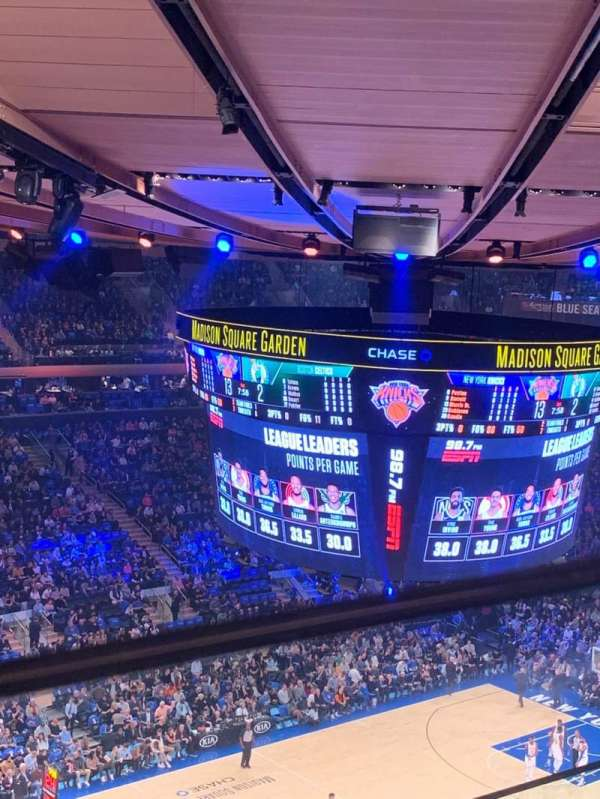 Madison Square Garden, section: 310, row: 2, seat: 5