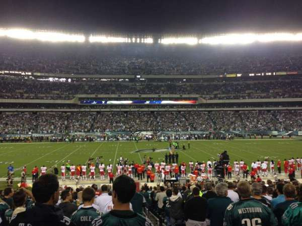 Lincoln Financial Field, section: 119, row: 23, seat: 1