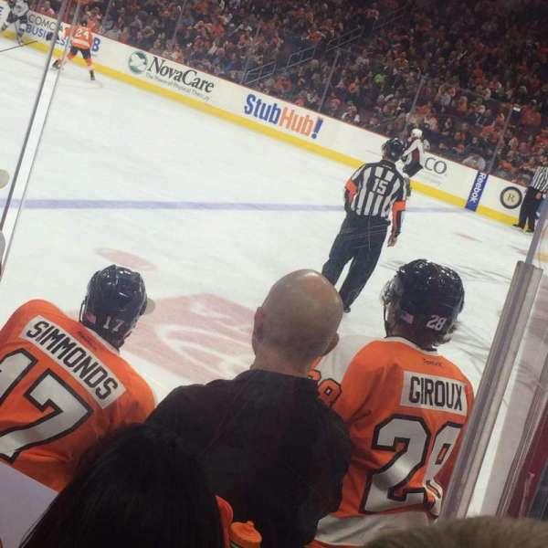 Wells Fargo Center, section: 101, row: 5, seat: 8