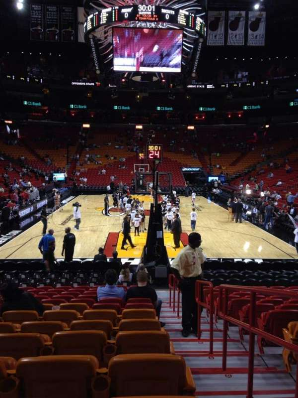 American Airlines Arena, section: 101, row: 16, seat: 1