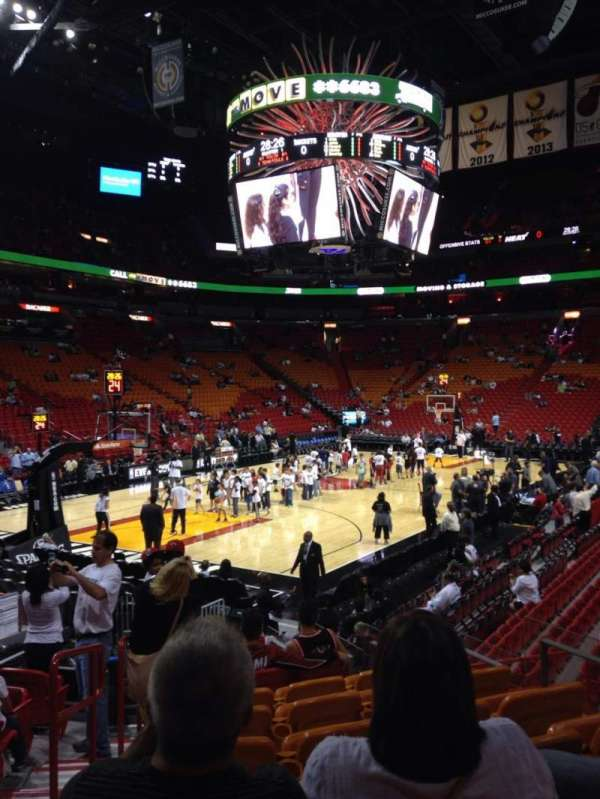 American Airlines Arena, section: 122, row: 17, seat: 8