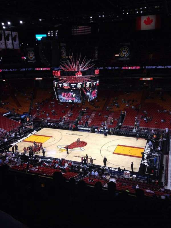 American Airlines Arena, section: 307, row: 7, seat: 1