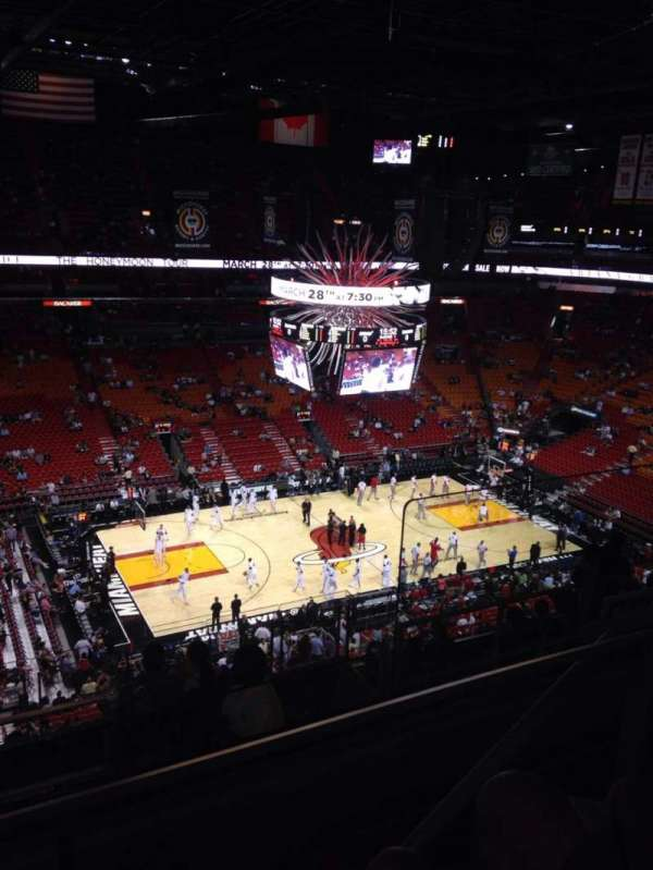 American Airlines Arena, section: 312, row: 10, seat: 3