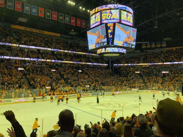 Bridgestone Arena, section: 104, row: A, seat: 19