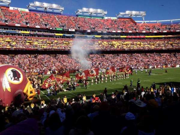 FedEx Field, section: 105, row: 17, seat: 5-6