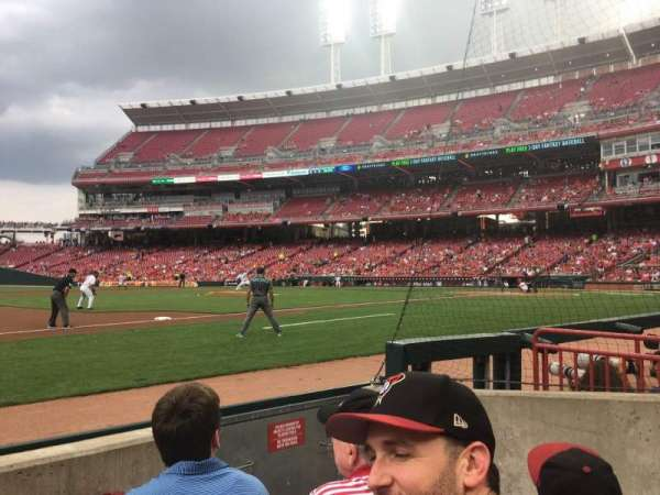 Great American Ball Park, section: 114, row: D, seat: 4