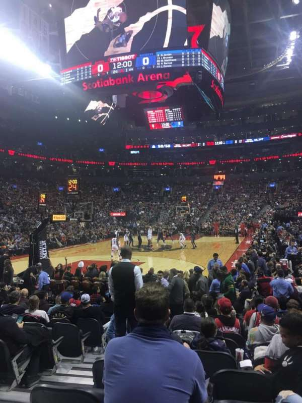 Scotiabank Arena, section: 101, row: 5, seat: 9