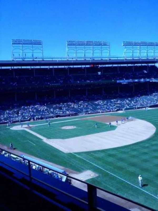 Wrigley Field, section: 330R, row: 2, seat: 10