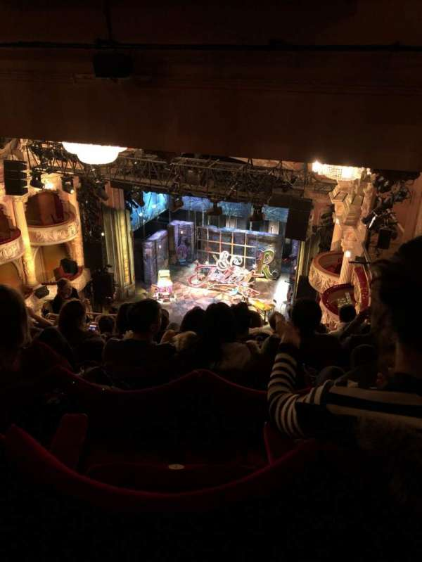 Shaftesbury Theatre, section: Grand Circle, row: J, seat: 6