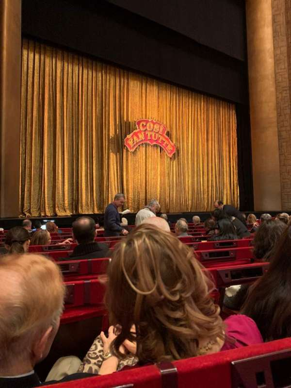 Metropolitan Opera House - Lincoln Center, section: ORCH, row: I, seat: 19