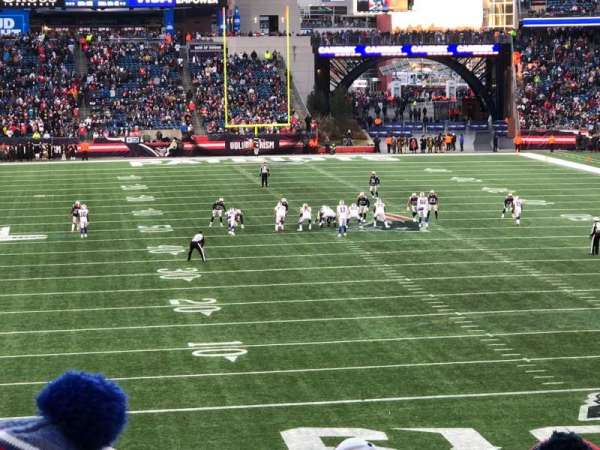 Gillette Stadium, section: 122, row: 33, seat: 5