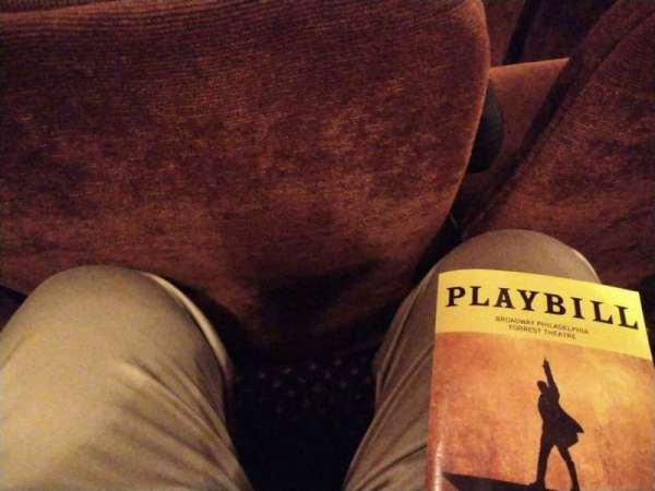 Forrest Theatre, section: Orchestra C, row: L, seat: 112